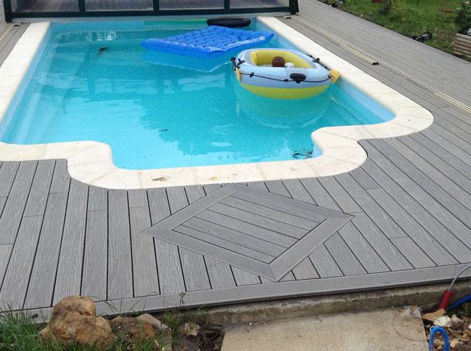 La petite touche pour bien faire la reprise du losange qui for Chauffer piscine gratuitement